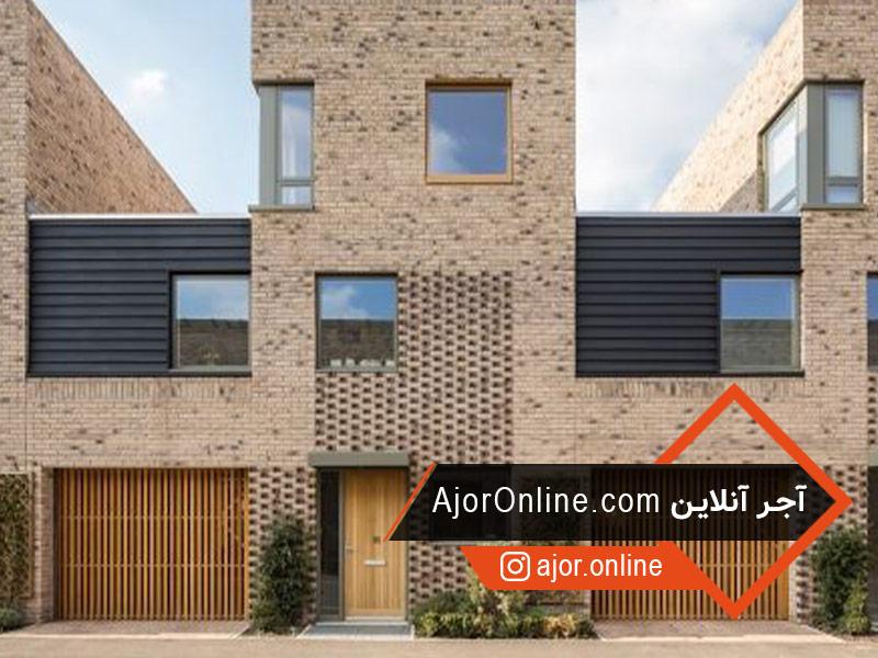 طراحی نمای ساختمان با آجر نما