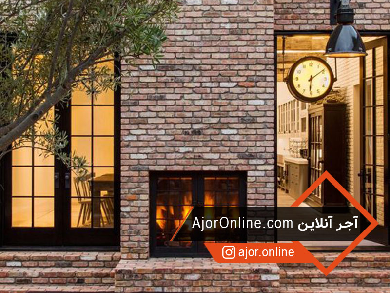 طرح نوستالژیک نمای ساختمان با آجر نما