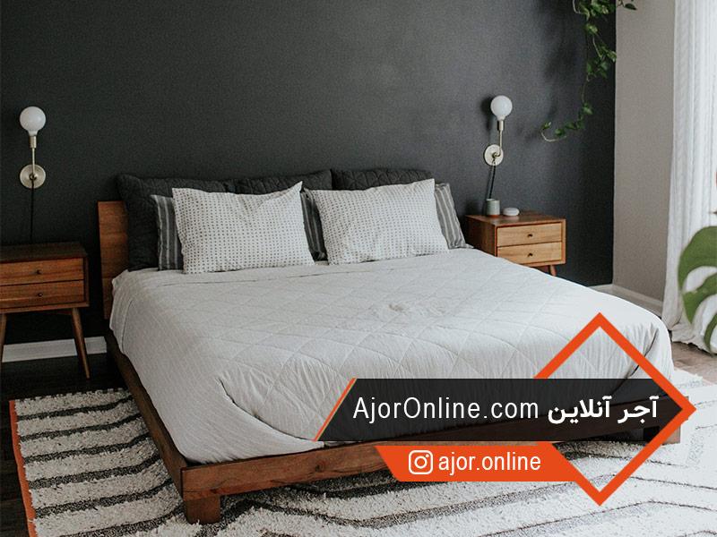 تخت خواب مناسب در دیزاین داخلی اتاق