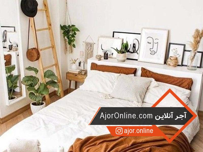 استفاده از گل و گیاه در طراحی دکوراسیون اتاق خواب ساده