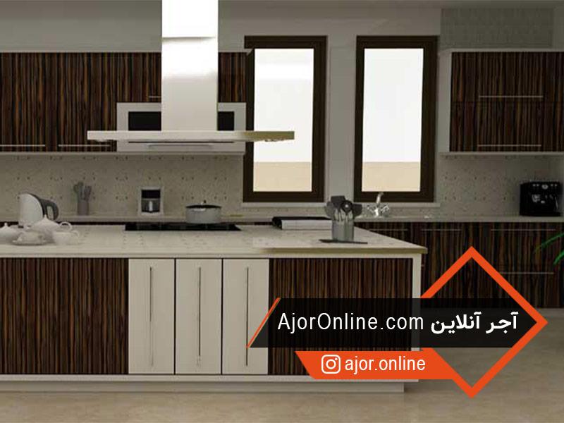 طراحی اپن آشپزخانه با ام دی اف