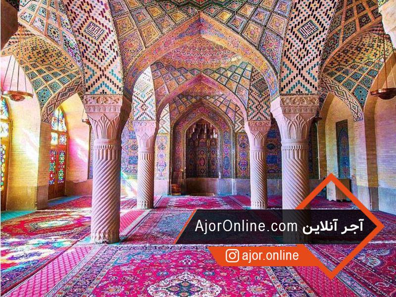 سبک معماری مسجد نصیرالملک در شیراز