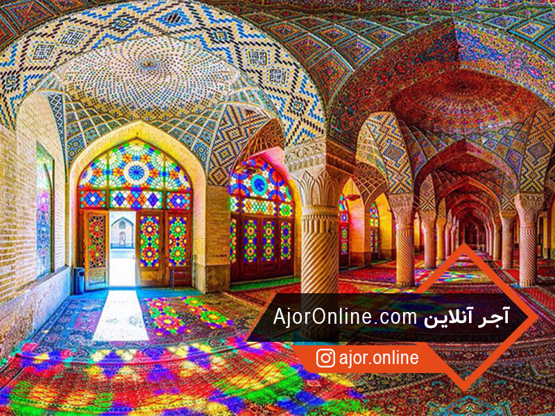 نور و رنگ در معماری اسلامی مسجد نصیرالملک