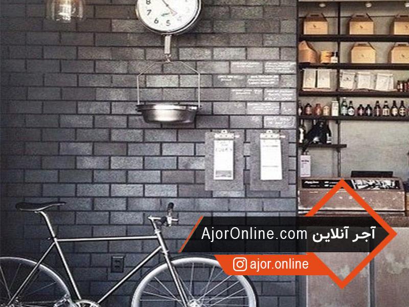 استفاده از آجر در دیوارهای کافی شاپ
