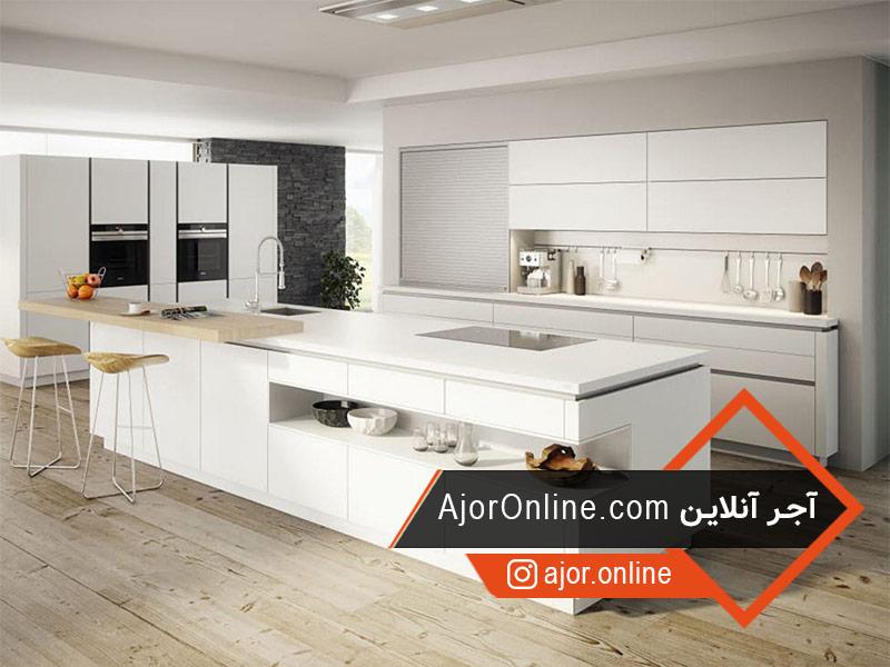 مدل اپن آشپزخانه ایرانی با کناف